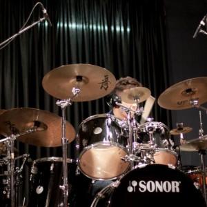 Uno dei nostri batteristi all'opera
